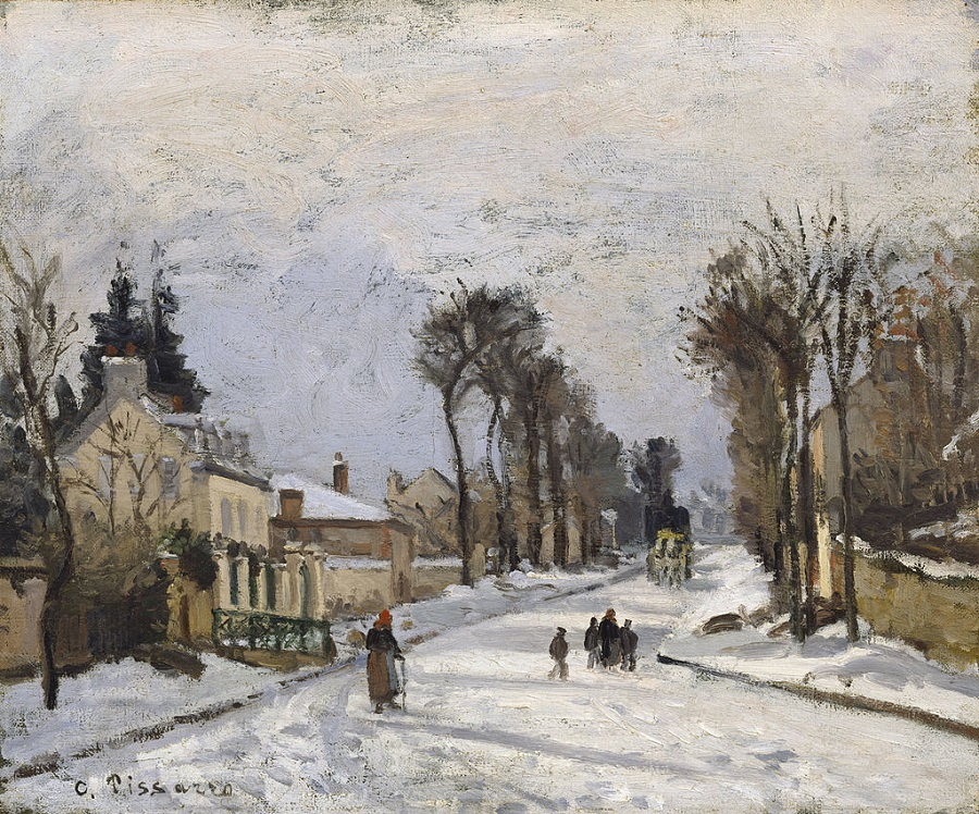 The Road to Versailles at Louveciennes, 1869 by Camille Pissarro