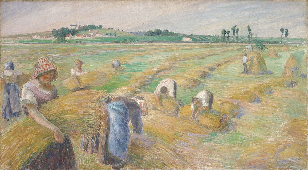 The Harvest, 1882 by Camille Pissarro