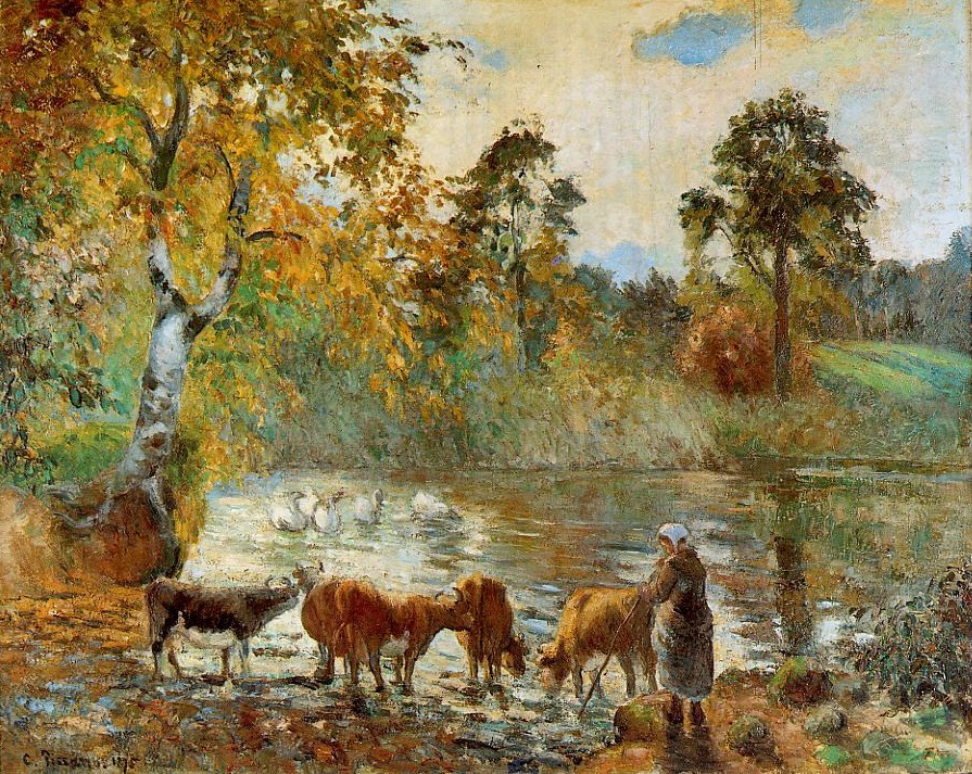 The Pond at Montfoucault, 1875 by Camille Pissarro