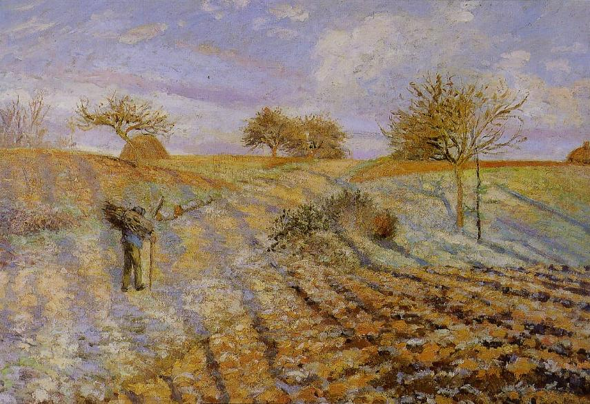 White Frost, 1873 by Camille Pissarro